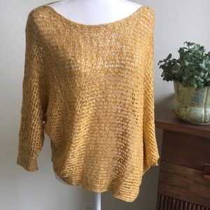 Sweaters - Gold and Silver Sweater Asymmetrical Size Med